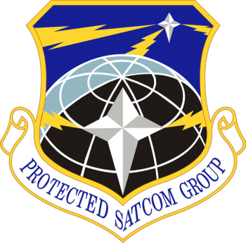 Coat of arms (crest) of the Protected SATCOM Group, US Air Force