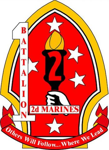 Coat of arms (crest) of the 1st Battalion, 2nd Marines, USMC