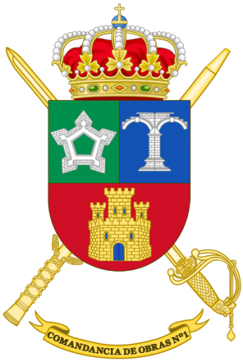 Coat of arms (crest) of the 1st Construction Command, Spanish Army