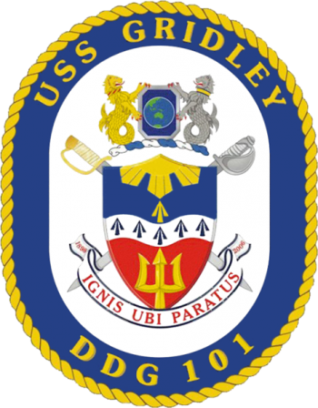 Coat of arms (crest) of the Destroyer USS Gridley (DDG-101)