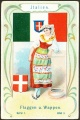 Arms, Flags and Folk Costume trade card Natrogat Italien