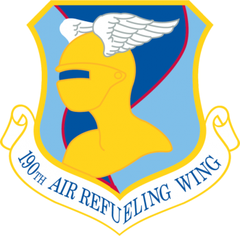Coat of arms (crest) of the 190th Air Refueling Wing, Kansas Air National Guard