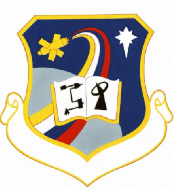 Coat of arms (crest) of the 3430th Technical Training Group, US Air Force