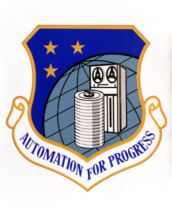 Coat of arms (crest) of the Air Force Data Automation Agency, US Air Force